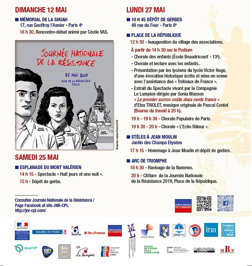 1944-2019: 75 ANS DE LA LIBERATION / JNR 2019, le 27 mai, place de la République